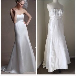 Jenny Yoo Ivory Silk Strapless Wedding Dress 16